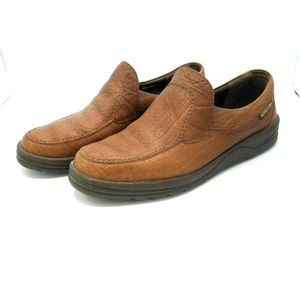 Mephisto Air Jet Brown Leather Loafers Shoes